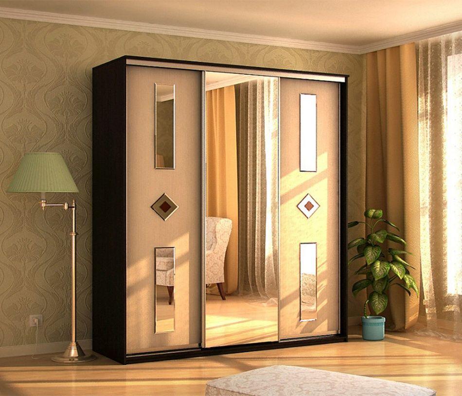 Купить альянс - 3 люкс - шкаф-купе трехдверный с зеркалом в .